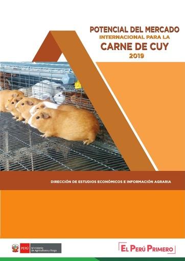 Potencial del Mercado Internacional para  la carne de cuy 2019