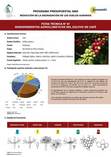 Ficha Técnica Nº 07 - Requerimientos Agroclimáticos del cultivo de Café