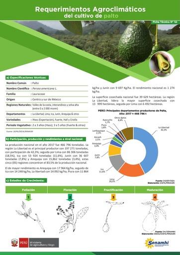 Requerimientos Agroclimáticos del cultivo de palto